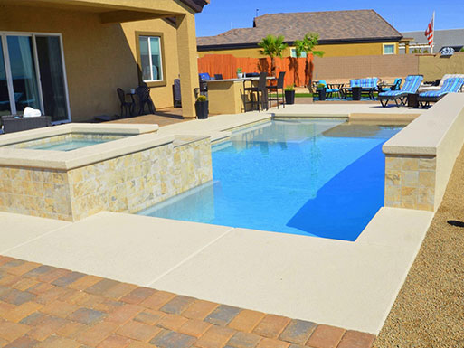 Customer's custom pool 9
