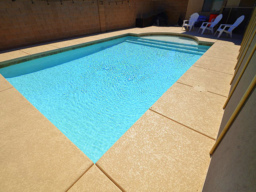 Customer's custom pool 16